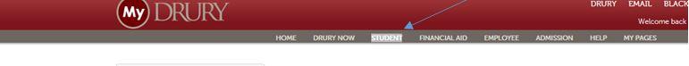 Screen capture of MyDrury header.