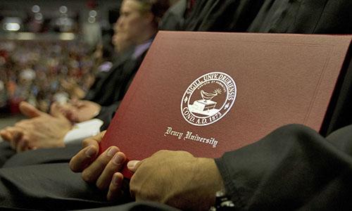 Drury University diploma.
