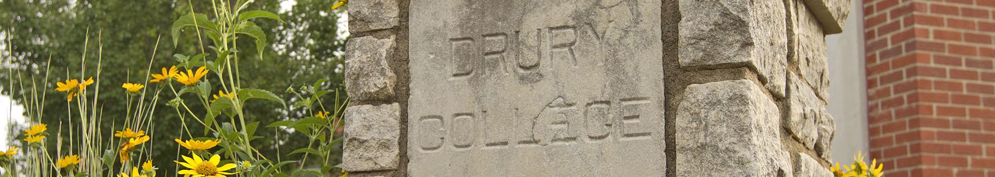 Drury College cornerstone.