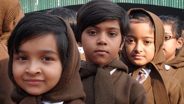 Children at Hem Sheela Model School.