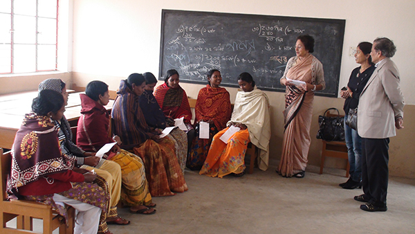 Teachers at the Tribal School.