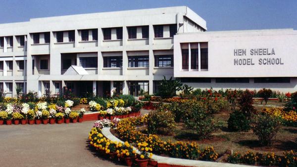 Exterior of Hem Sheela Model School.