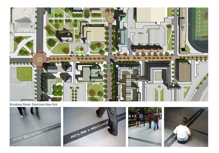 artist campus map Re-imagining Central Street as a linear park that tells the history of Drury University and Springfield, Missouri.