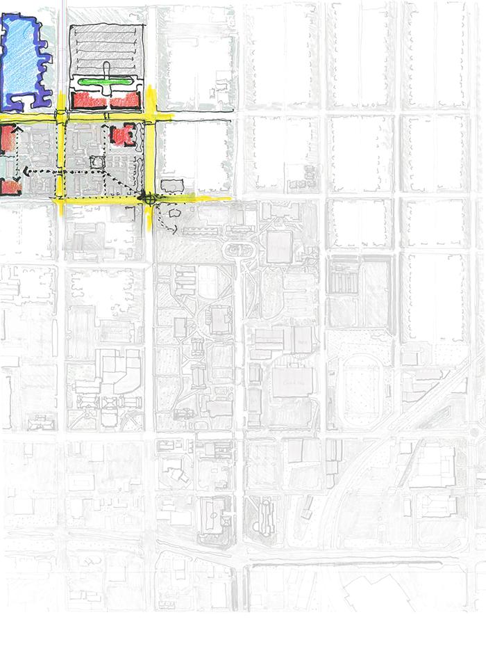 campus map of the The Northwest Quadrant of campus.