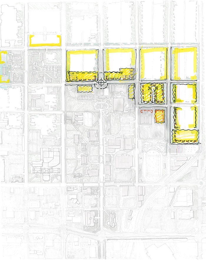 a campus map of proposed Housing Frontage.