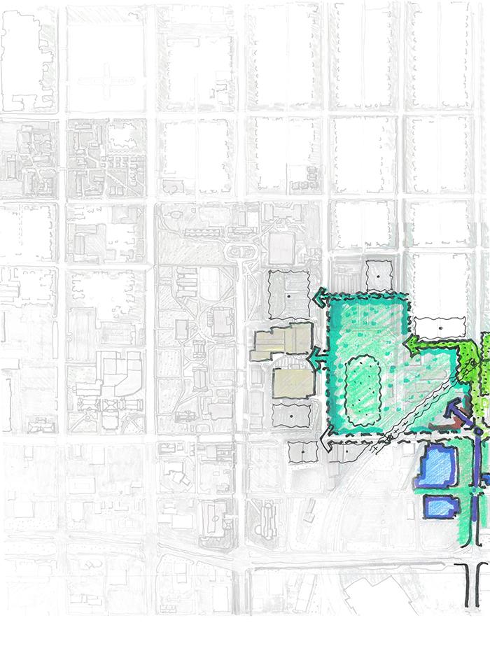 drury campus map of The East Quadrant.