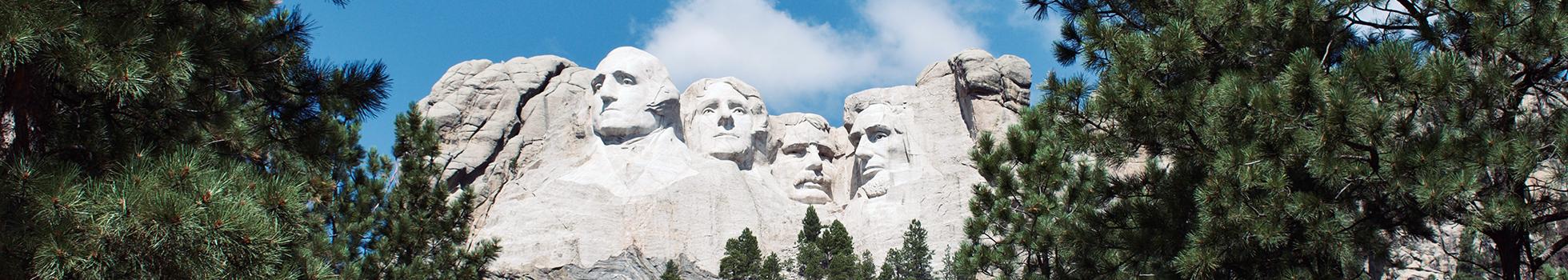 Exterior of Mount Rushmore.