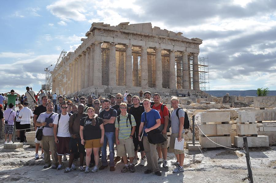 Athens at the Parthenon.