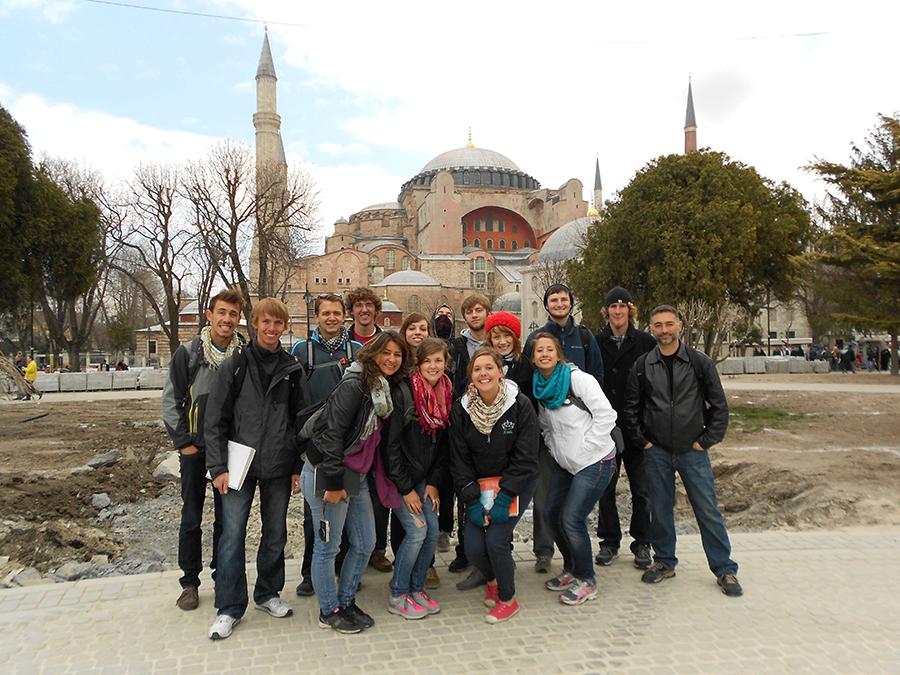 Istanbul at Hagia Sophia.