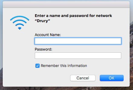 Screenshot of the username/password prompt on Mac OS.