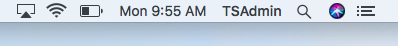 Screenshot of the wireless icon on Mac OS.