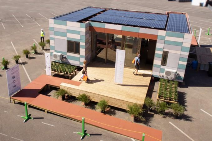 Solar Decathlon house exterior.