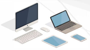 Graphic of technology devices.