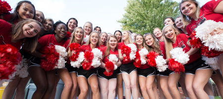 A group of cheerleaders.