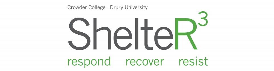 ShelteR³: Respond, Recover, Resist Logo.