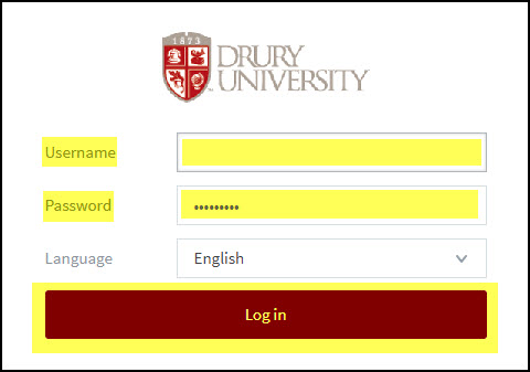 Screenshot of the username/password prompt on the web print screen.