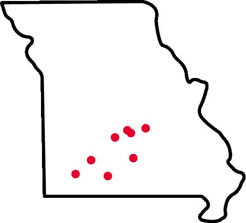 Drury GO locations map.