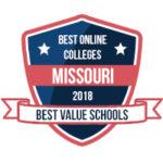 Best online colleges in Missouri logo.