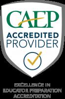 CAEP Accredited Shield logo.