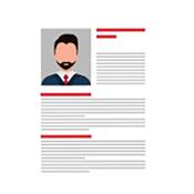 Illustration of a resume.