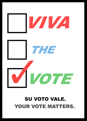 Viva the Vote logo.